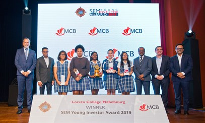Loreto College Mahebourg wins 1st Prize of SEMYIA 2019 {760 students from 85 colleges}